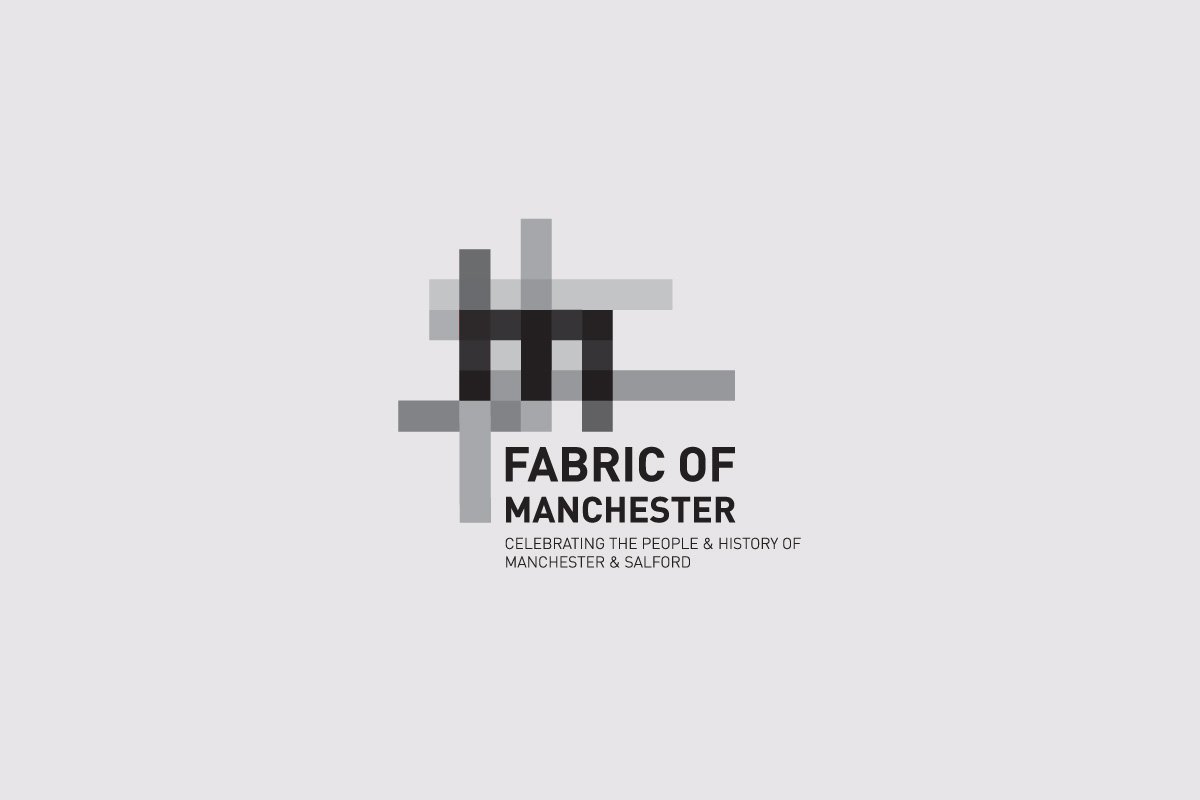 Fabric of Manchester Logo in Black and White