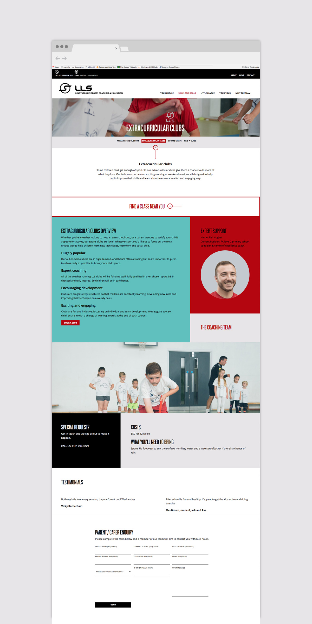 LLS Website Design