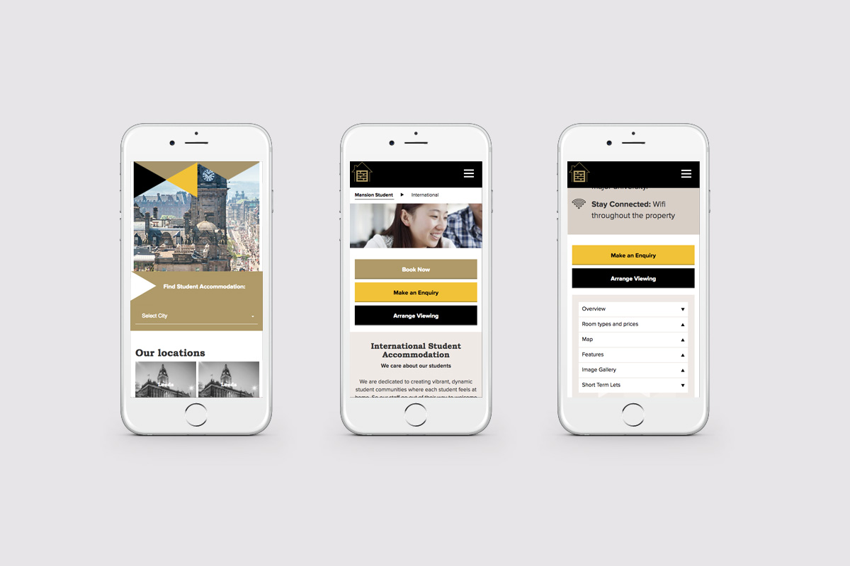 Mansion Student Mobile Web Design