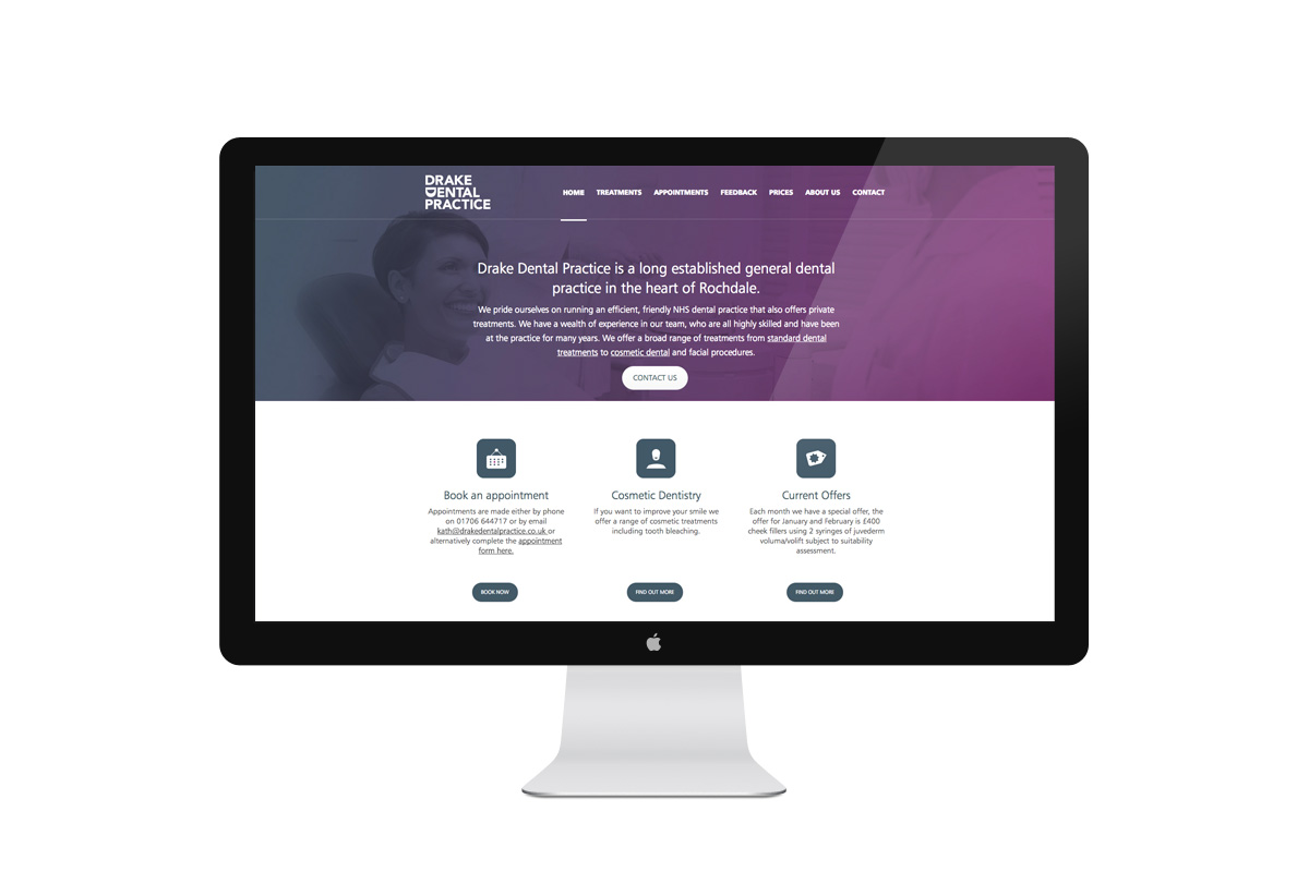 Drake Dental Practice Desktop Web Design