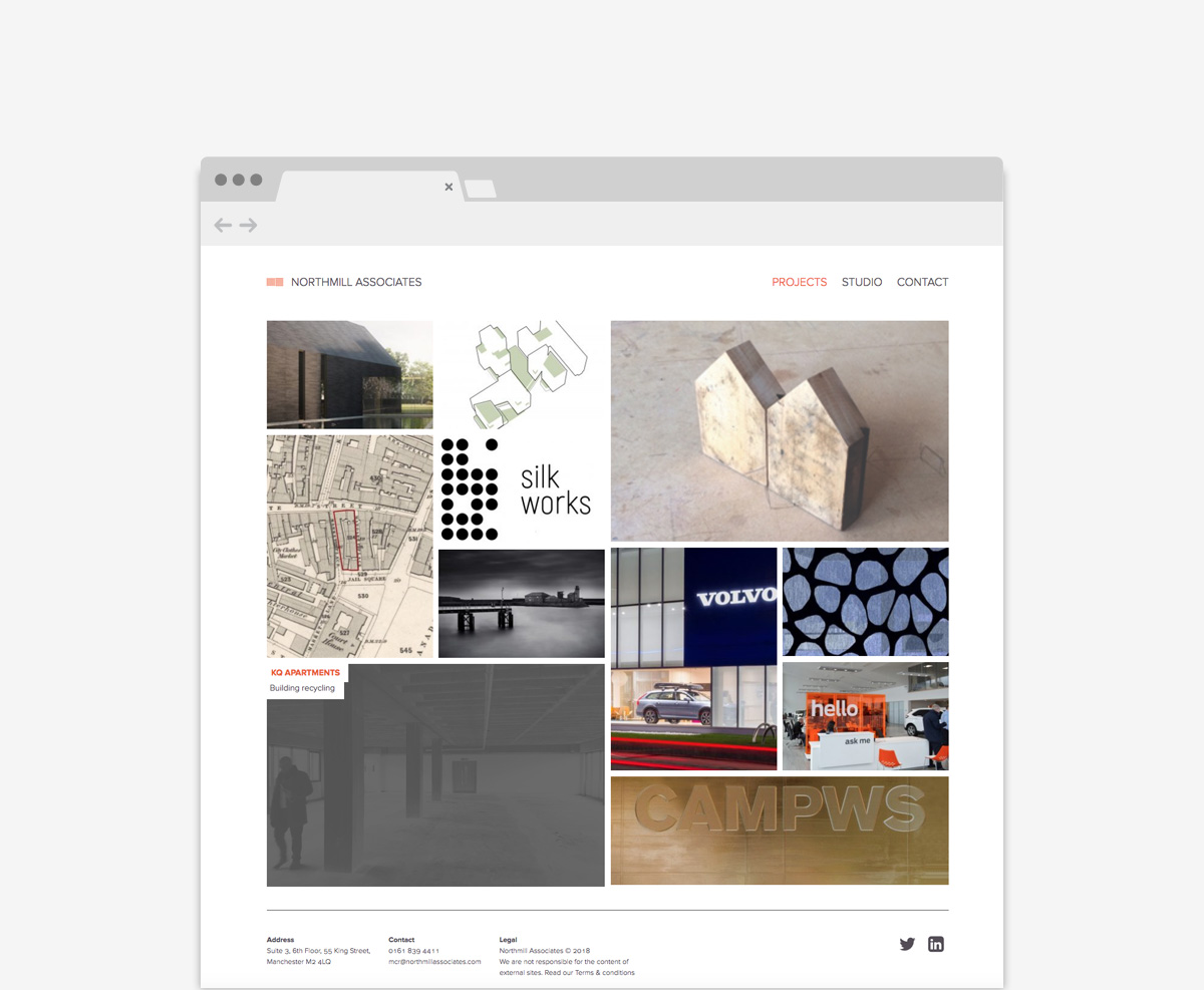 NorthMill Associates Architectural Website Design