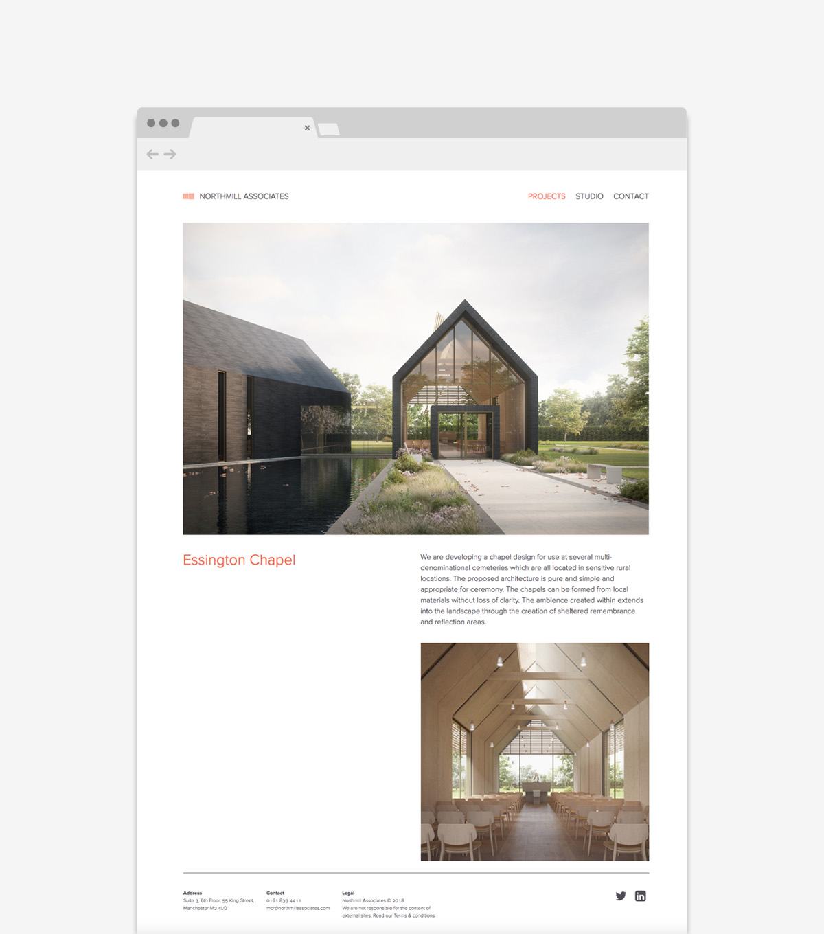 Northmill Associates Architecture - Website Design