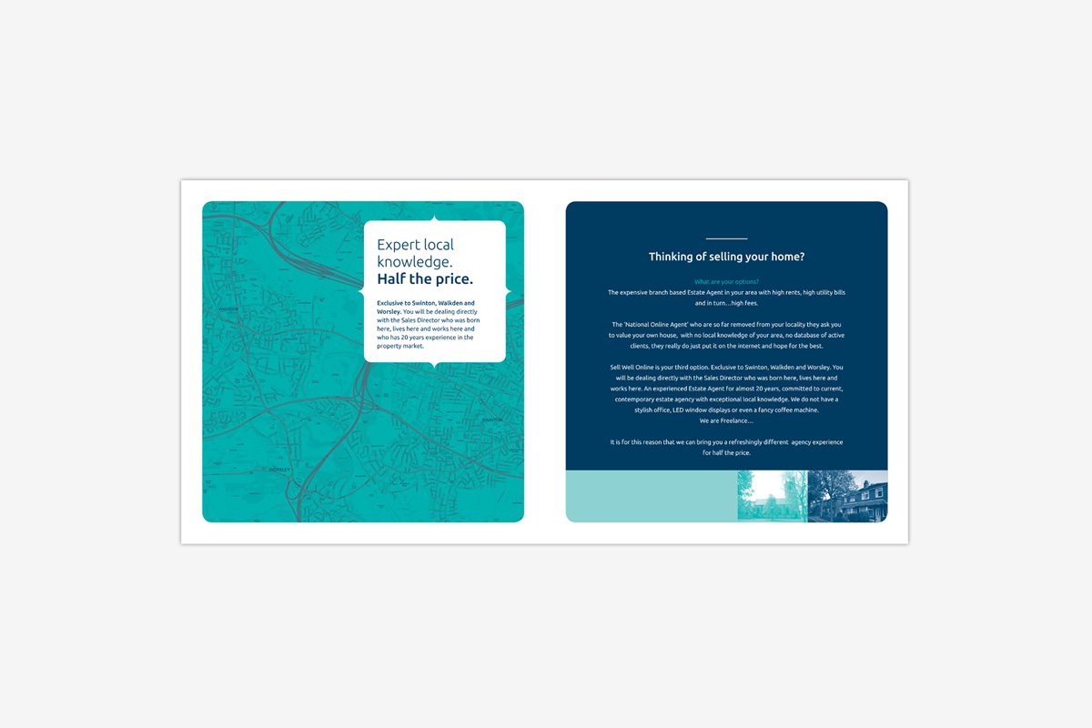 SellWell Estate Agency Identity Design