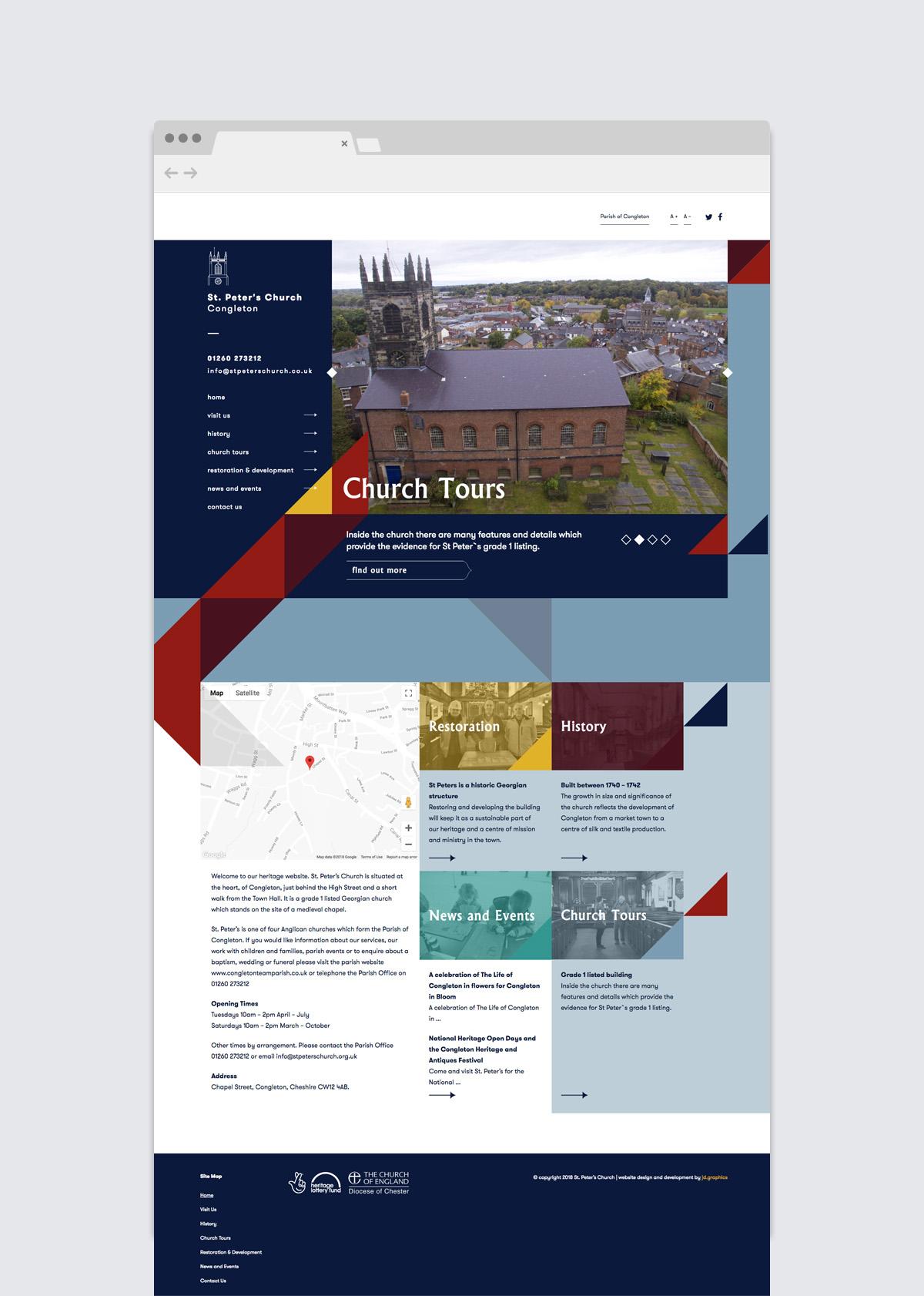 Church Tours - Website Design