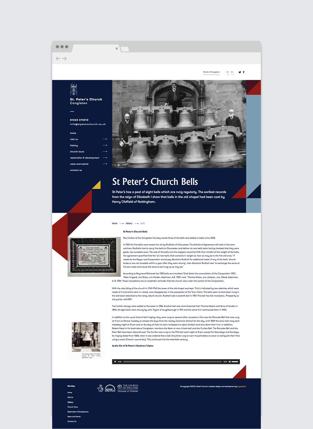 St Peter's Church Bells - Web Design