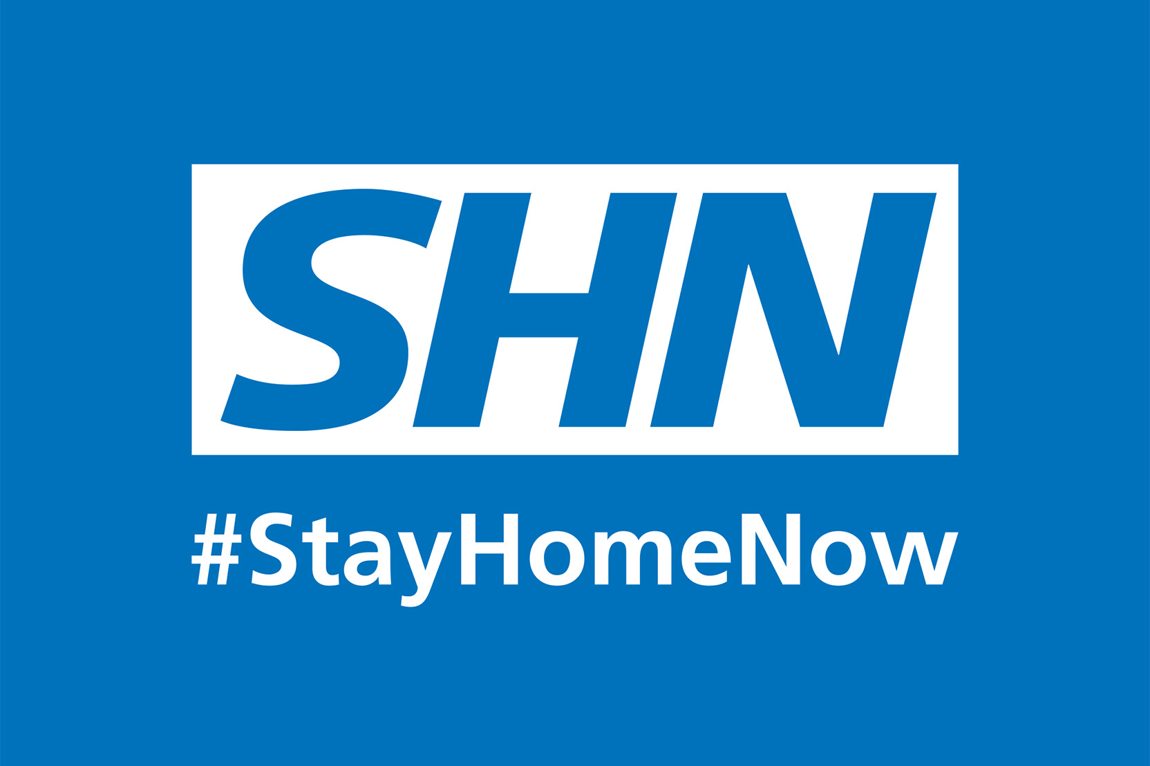 Stay home now logo